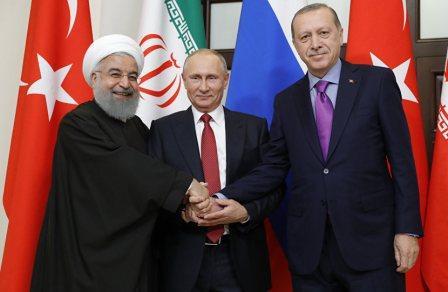 Путин, Роухани и Эрдоган сделали совместное заявление в Сочи