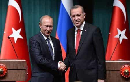 Путин обсудил с Эрдоганом Ближний Восток и Сирию