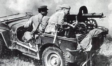 Сададин Сирижидинов водил штабную машину дивизии