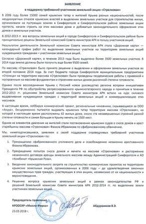 Милли Фирка поддержала требования участников акции на «Стрелковой»
