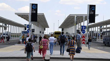 В аэропорту «Симферополь» запустили автостанцию