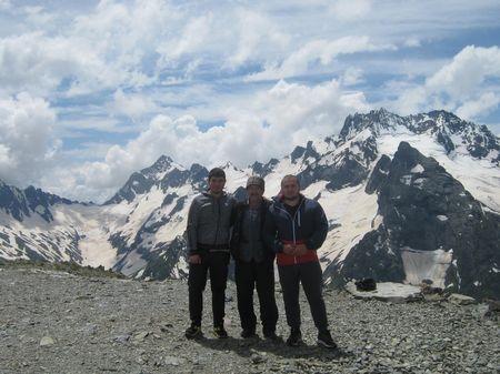 Встреча на вершине Муса-Ачитара с ногайскими джигитами Русланом и Рустамом.