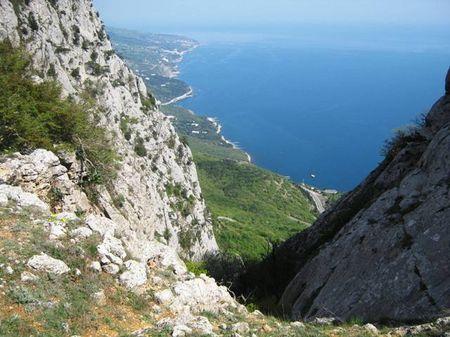 Вид на Южный берег с высоты более шестисот метров