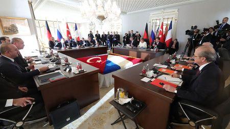 В Стамбуле прошел Саммит лидеров Турции, России, Германии и Франции