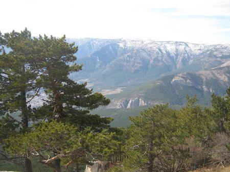 Восхитительная панорама видов отрогов Йограф, Къызылкъая, Баланынъ къаясы.