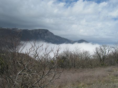 Вид на гору Къуш къая (1339 м над уровнем моря)