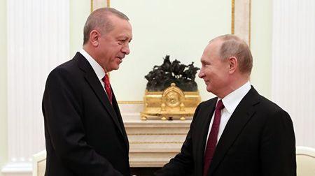 Завершились переговоры Путина c Эрдоганом
