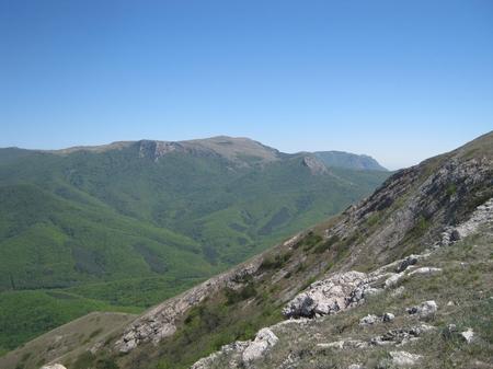 Вид на гору Северная Демирджи (1359 м над уровнем моря)