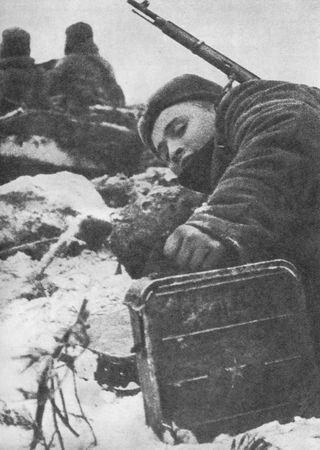 Осман Умеров корректировал огонь батареи