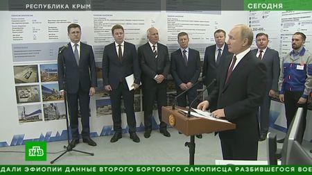 Путин запустил Балаклавскую и Таврическую ТЭС