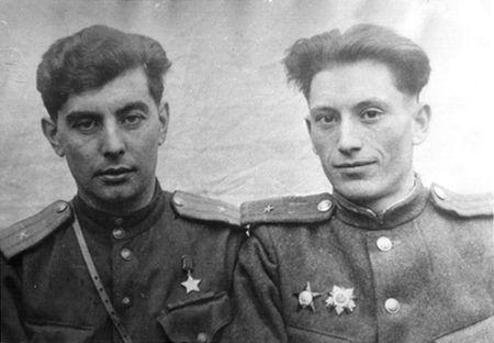 Абдуль Тейфук и майор Худеев, 1944-1945 гг.
