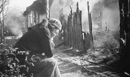 Весной 1943 года немцы сожгли деревню Биюк-Янкой
