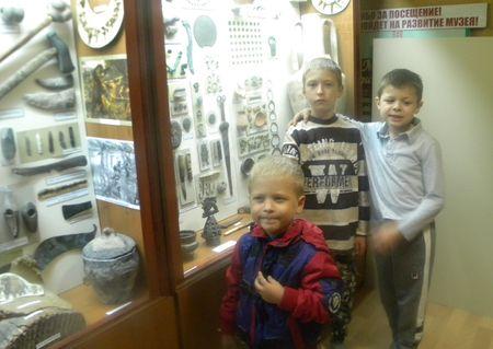Начало осмотра экспозиции и музея