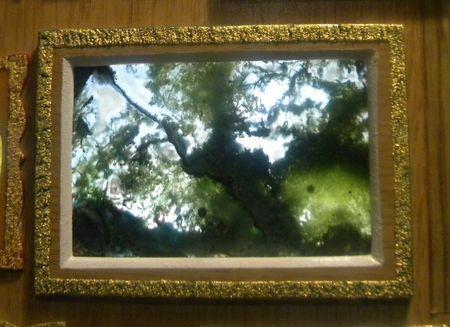 Одна из естественных картин на срезе мохового агата