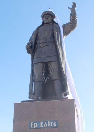 В Актобе открыли памятник батыру Эдиге
