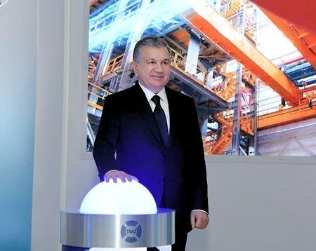 Шавкат открыл в Ташкенте металлзавод