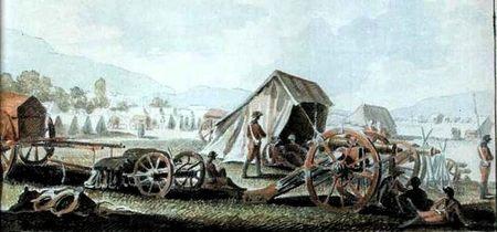 Русский военный лагерь вблизи Карасу-Базара в Крыму, каким его увидел Иванов в 1783 году